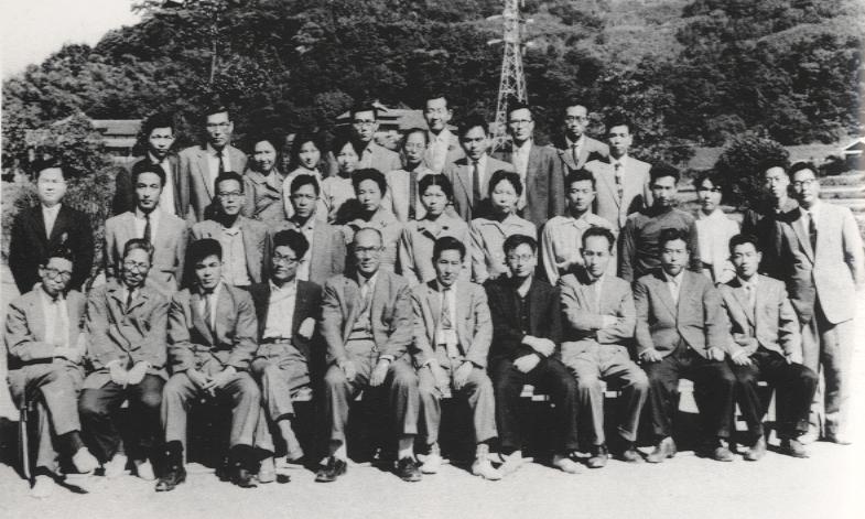 創立当初の職員(昭和35年)